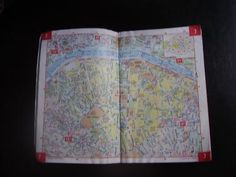 """How to Use Compact Paris City Street Maps Like a Local: My own """"well-loved"""" copy of the classic Paris street map."""