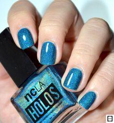 Nailpolis Museum of Nail Art Holographic Nails, Teal, Blue, Swatch, Nail Polish, Museum, Nail Art, Beauty, Nail Polishes