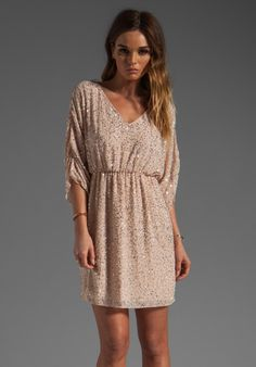 Alice   Olivia Olympia Embellished Tunic Dress in Pale Peach/Silver ... I absolutely adore Alice + Olivia! LOVE LOVE LOVE this dress, I WANT!!