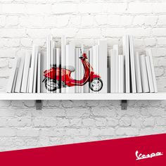 Every book is an adventurous journey, like every time you start a trip with Vespa. #Vespa