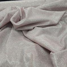 Dusky Pink Sparkling Bodycon Glitter Sparkle Jersey Fabric Prom Dress Wedding  #TheFabricSpecialists