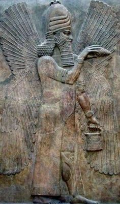 Pine cone in hand, #Sumerian God