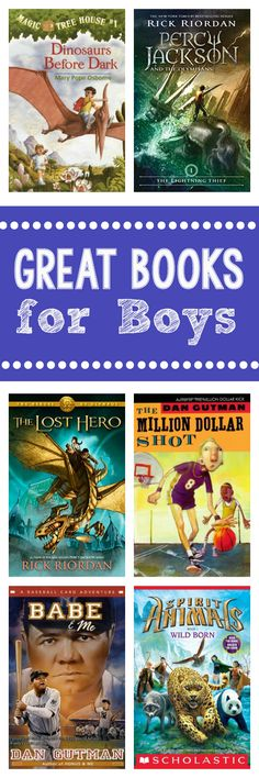 Book Recommendations for Elementary Age Boys