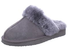 ARA COSY - ECHT LAMMFELL, Größe 42, grau - http://on-line-kaufen.de/ara/42-eu-ara-cosy-damen-pantoffeln