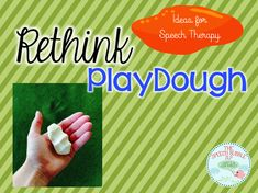 Fun new ideas for Playdough in speech therapy!