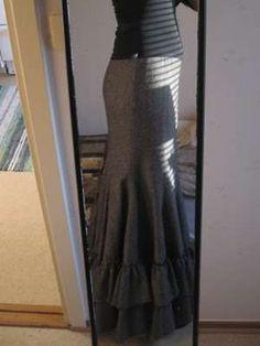 DIY fishtail/mermaid skirt