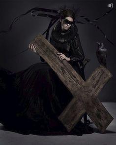 the cross &  dark nun