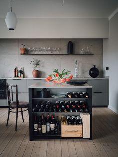 Modern Home Decor Kitchen Living Room Kitchen, Home Decor Kitchen, Kitchen Interior, Interior Design Living Room, Kitchen Walls, Diy Kitchen, Best Kitchen Designs, Modern Kitchen Design, Küchen Design