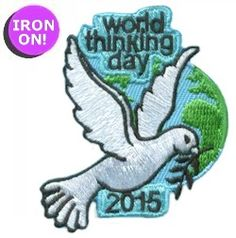 View World Thinking Day 2015 Patch - Dove