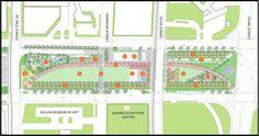 Klyde Warren Park Map