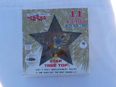 Gold Tinsel and Blinking Lights Retro Star Tree Decoration