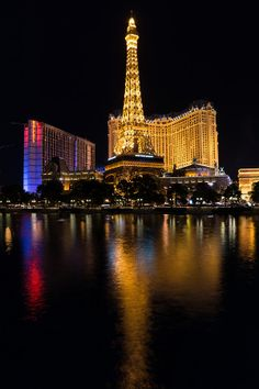 """It's Not ParisIt's the glamorous Paris Las Vegas Hotel and Casino, Eiffel tower and all, reflecting in the Bellagio Fountains.Winner of the """"Cityscapes of the USA"""" photography contest on Thursday, April Art Photograph by Georgia Mizuleva © Paris Las Vegas, Las Vegas Trip, Las Vegas Hotels, Las Vegas Nevada, Paris Hotels, Places Around The World, Around The Worlds, Colorado, Grand Canyon Arizona"""