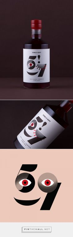 Cinq à Sept - Pinot Noir vermouth | packaging design by Cloudy Co