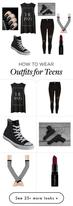 """Untitled #171"" by peace-girl23 on Polyvore featuring River Island, Converse, Smashbox, women's clothing, women, female, woman, misses and juniors"