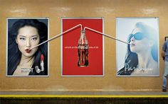 Coca-Cola Straw Poster  Brilliant ad reminds you to refresh on the Coca-Cola side of life.