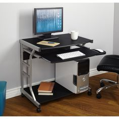 A space-saving design and easy mobility make the Berkeley Computer Desk ideal for a dorm room or apartment. This rolling computer desk offers a spacious. Space Saving Computer Desk, Mobile Computer Desk, Computer Mouse, Computer Station, Small Computer, Computer Desks, Computer Tips, Furniture Logo, Home Office Furniture