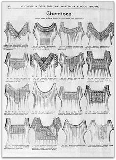 1890-91 Vintage Fashion: H.O'Neills Fall & Winter Catalogue Page 22 - Victorian Chemises | Flickr - Photo Sharing!