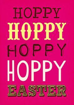 Hoppy Hoppy Easter Card