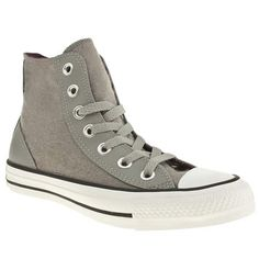 CONVERSE CT SPECIALITY HI WOMENS GREY LEATHER SPORTS TRAINERS