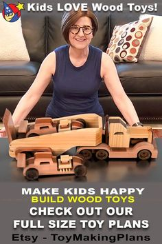 Awesome Woodworking Ideas, Woodworking Joints, Woodworking Workshop, Woodworking Plans, Woodworking Projects, Woodworking Classes, Wood Toys Plans, Wooden Truck, Kids Wood