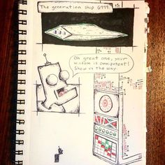 Got inspired at 2am to start a kind of stream is consciousness comic. What it will evolve into is beyond me. #webcomic #comic #generationship #art #4colorpen #hardluckcharlie