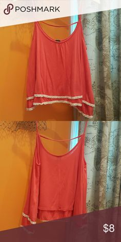 Red spaghetti strap top Purchased from Marshalls and worn once. Loose fit. Has 2 layers. r2d Tops Blouses