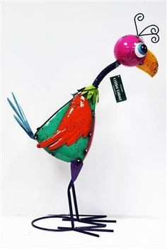 New Fountasia Metal Summer BBQ Garden Patio Art Decoration Paco Parrot in Garden & Patio, Garden Ornaments, Statues & Lawn Ornaments | eBay