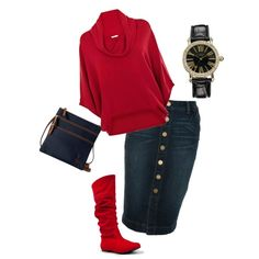 """winter red"" by aaronjillthomas on Polyvore"