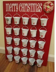 Cool idea for an Advent Calendar! Can easily add enough trinkets/goodies for all the kids in one place.