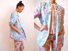 Vtg 80's Floral Tapestry Boyfriend Slouchy Blazer  http://www.etsy.com/shop/LuluTresors