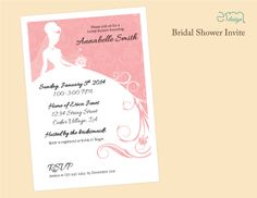 Affordable Bridal Shower Invitation by EmDesign emdesignia.com