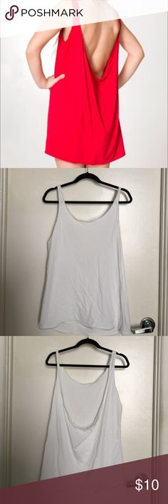 American Apparel Tank Dress white All white American apparel tank dress. Short dress with a deep back. NOT RED, I ONLY HAVE WHITE American Apparel Dresses Mini