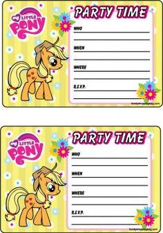 Printable My Little Pony Invitation 4