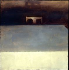 Randall Exon, Tribute, oil painting, 16x16in, 2002