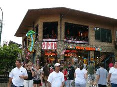 Mellow Mushroom Gatlinburg,TN--the patio is on the second floor....where we will have a small reception the day of the wedding :)