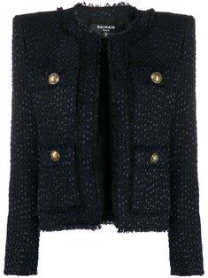 Balmain, Tartan, Christian Louboutin, Women Wear, Coat, Long Sleeve, Sleeves, How To Wear, Fashion Design