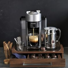 Nespresso Evoluo Deluxe Coffee & Espresso Maker with Aeroccino Plus Milk Frother #williamssonoma