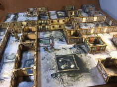Zombicide Black Plague 3D Scenery. 3D Printed, Laser Cut, no painting, no folding.