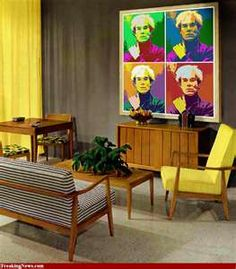 Living room with Andy Warhol print