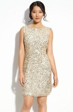 Bachelorette Party - Pisarro Nights Drape Back Sequin Dress in Gold (champagne)