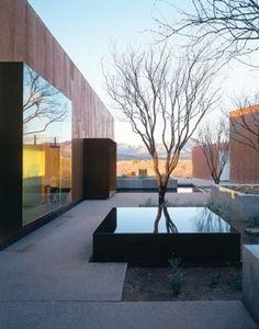 Garden pond - Arquitectura residencial contemporánea con espejo de agua en los exteriores