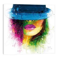 "JaxsonRea ""Coralie II"" by Patrice Murciano Graphic Art on Wrapped Canvas Size: Murciano Art, Frames On Wall, Framed Wall Art, Patrice Murciano, L'art Du Portrait, Portraits, Urbane Kunst, Art Graphique, Face Art"