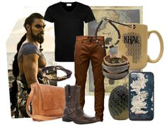 """Men's Outfit inspired by Khal Drogo on HBO's series, """"Game of Thrones.""""  #GameOfThrones"""