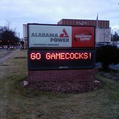 Alabama Power in Anniston are supporting the Gamecocks! #FCSCocky