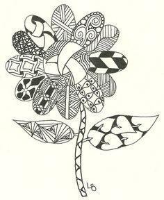 Flower Zentangles | zentangle flowers