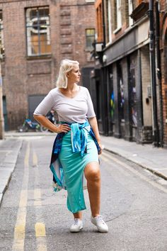 Dorthe Elbow Length Grey T-shirt — Kepaza Colorful Fashion, Fashion Brand, Leather Skirt, Grey, Skirts, Model, Sleeves, T Shirt, How To Wear