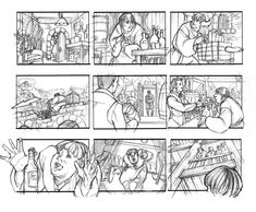 Storyboard is another example of using sequencing, it often appears in movie making and book designing (Especially image books). The storyboard is a sketch of the story, by using few simple sketches, the overall structure of the film (book) can be viewed. By making a storyboard, designers can decide to add or remove shots or images without have to make the complete product. So in this case, the sequencing helps designers to understand the project better and save time and money