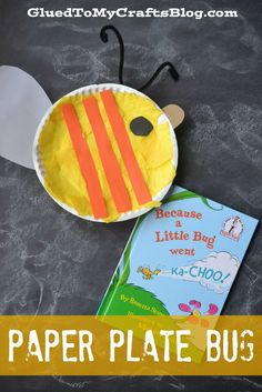 Dr Seuss Inspired Paper Plate Bug {Kid Craft}