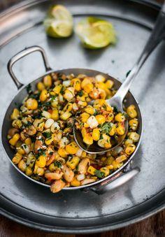 Vaghareli Makai (Spiced Indian Corn) - I Cook Different Indian Corn Recipes, Ethnic Recipes, Indian Snacks, Indian Salads, Indian Appetizers, Vegetarian Recipes, Cooking Recipes, Healthy Recipes, Vegetable Recipes