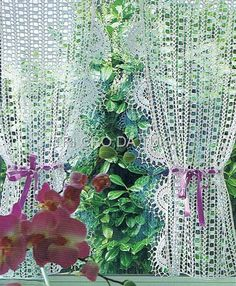 Gardine häkeln - crochet curtain - cortina croche
